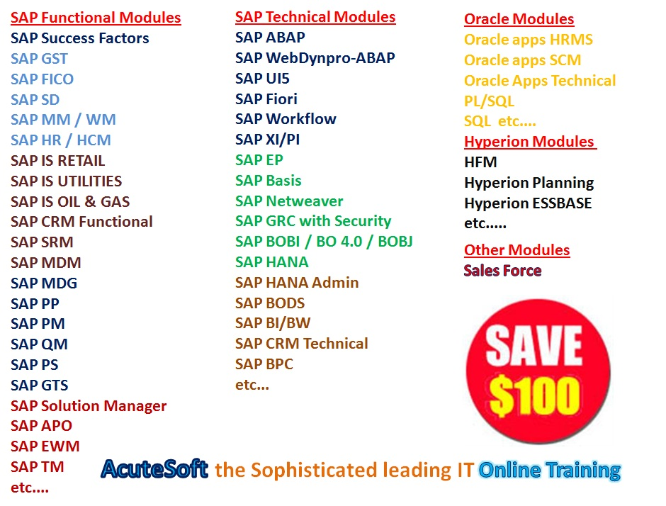 BEST IT Online Training from Industry Experts-AcuteSoft - For Press