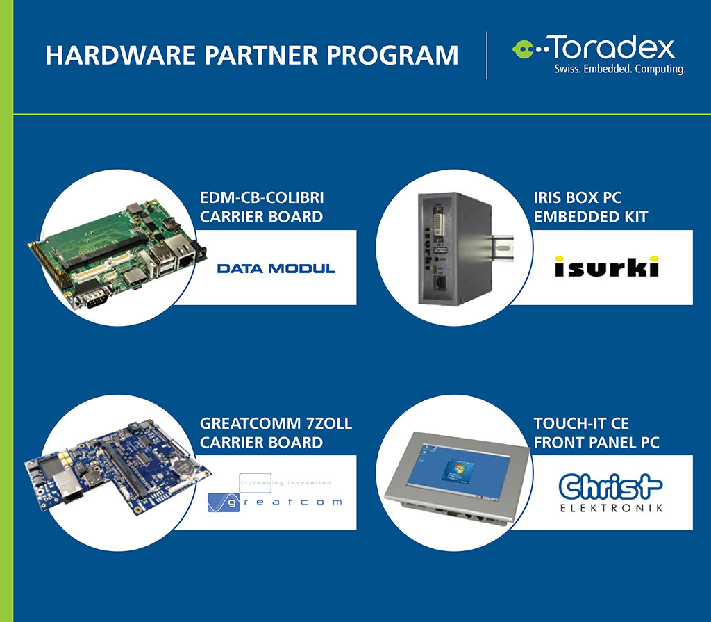 Toradex announces hardware partner program for press for Hdw partner