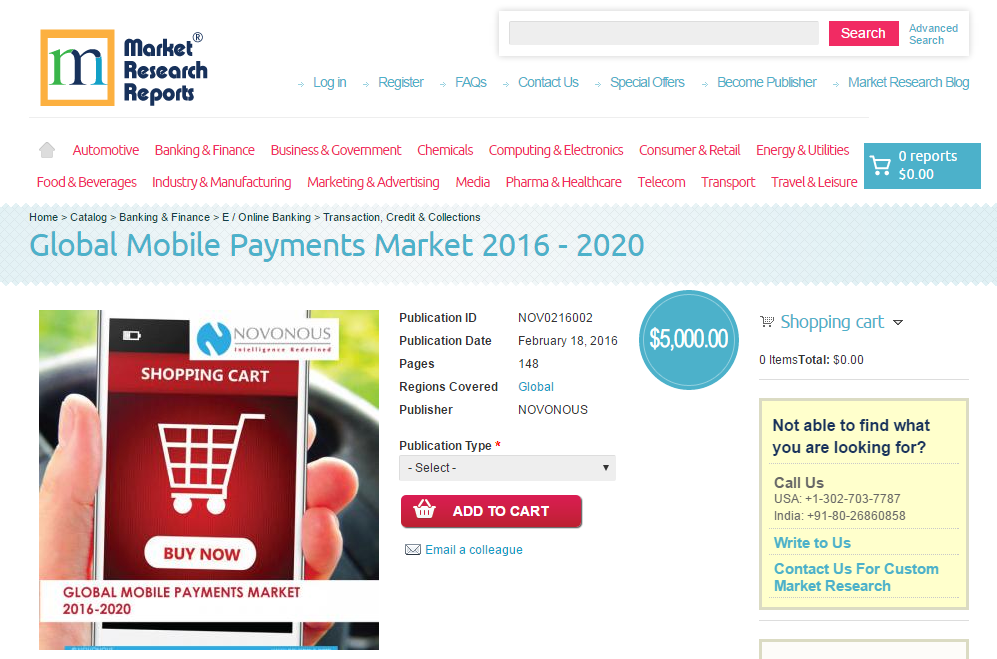 research report on mobile payment market Global and china mobile payment industry report, 2017-2021 is a market research report available at us $3200 for a single user pdf license from rnr market research.