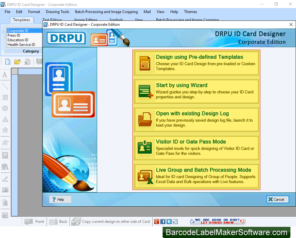 company releases identity card maker software for various