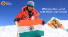 ForPressRelease.com - LPU Logo atop World's Highest Peak 'Mount Everest' along with Great Mountaineer Anshu Jamsenpa