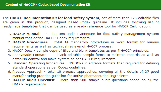 Global Manager Group Launched HACCP Certification Documentation kit ...